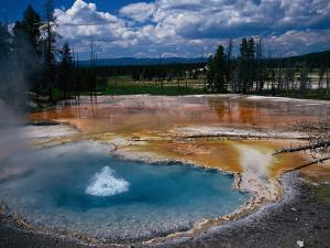 Firehole Spring, Yellowstone National Park, WY by Bob LeRoy