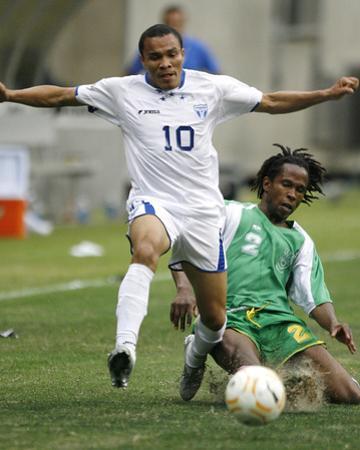2007 CONCACAF Gold Cup Quarterfinals: Jun 17, Honduras vs Guadalupe- Julio Cesar by Bob Levey