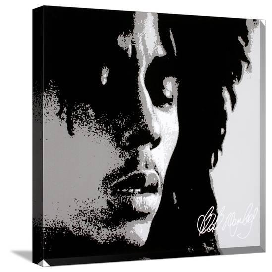 Bob Marley: Eyes Closed--Gallery Wrapped Canvas