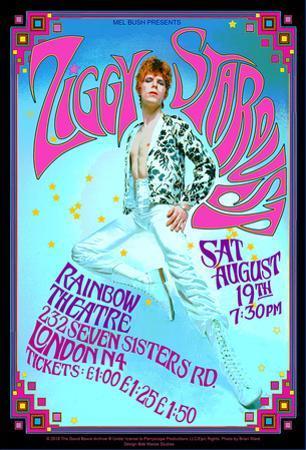 David Bowie as Ziggy Stardust 1972 London concert by Bob Masse