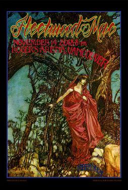 Fleetwood Mac concert poster, Vancouver, B.C. by Bob Masse