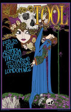 Tool concert poster, London, England by Bob Masse