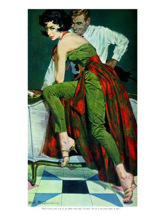 """The Other Wife - Saturday Evening Post """"Men at the Top"""", January 30, 1960 pg.31"""