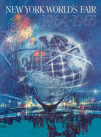 New York World's Fair 1964-1965 - Unisphere Earth Model by Bob Peak