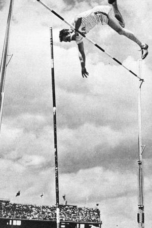 Bob Richards Winning the Gold Medal for the Pole Vault in the 1956 Melbourne Olympics