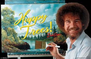 BOB ROSS - HAPPY TREES