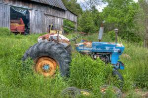 Blue Tractor by Bob Rouse