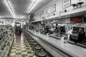 Drugstore Counter BW by Bob Rouse