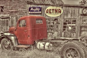 Red Dodge BW by Bob Rouse