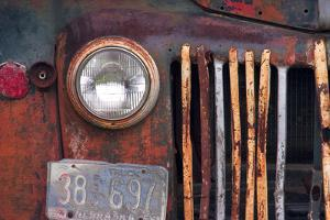 truck grill and light by Bob Rouse
