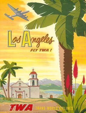 Fly TWA Los Angeles 1950s by Bob Smith