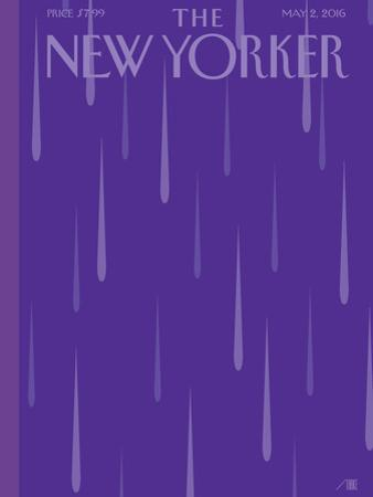 Prince Purple Rain New Yorker Magazine Cover - May 2, 2016