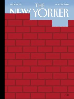 The New Yorker Cover - November 21, 2016 by Bob Staake