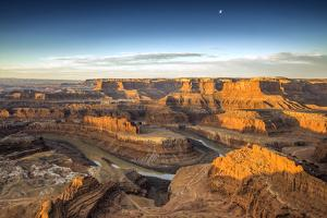 Canyon and Winding River at Sunrise by Bob Stefko