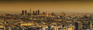 Downtown Los Angeles in Orange Hues by Bob Stefko