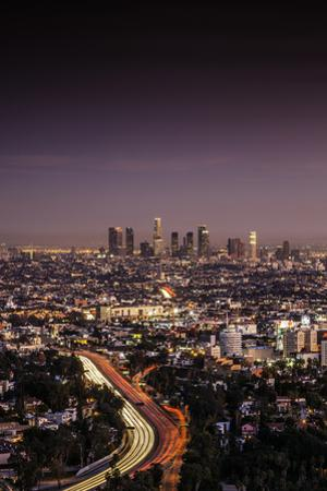Downtown Los Angeles Pink Hues by Bob Stefko