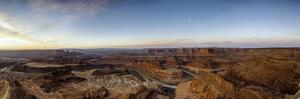 Panoramic View of Canyon and River at Sunrise by Bob Stefko
