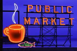 Public Market Sign I by Bob Stefko