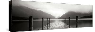 Serene Dock BW I by Bob Stefko