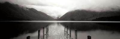 Serene Dock BW II by Bob Stefko