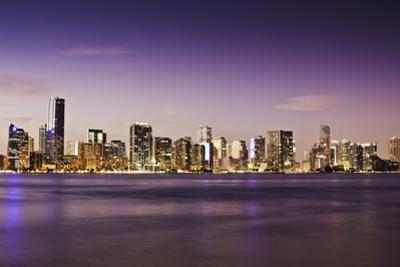 View of City and Water at Dusk by Bob Stefko