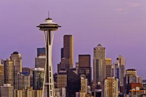 View of Seattle Skyline by Bob Stefko