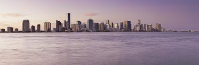 Wide View of City and Water at Sunset by Bob Stefko
