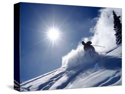 Man Skiing at Breckenridge Resort, CO by Bob Winsett