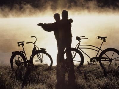 Mature Couple Dancing Near Bicycles, CO