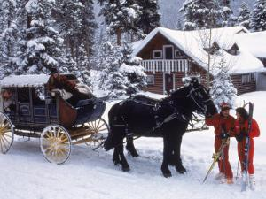 Stagecoach at Ski Tip Ranch, CO by Bob Winsett