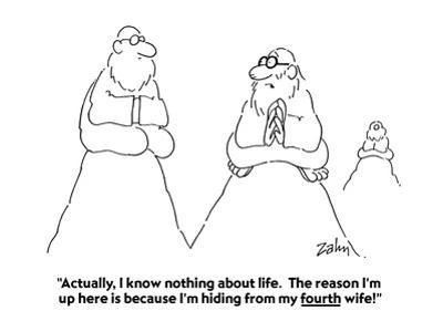 """""""Actually, I know nothing about life.  The reason I'm up here is because I…"""" - Cartoon"""