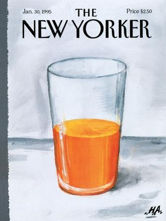 The New Yorker Cover - January 30, 1995 by Bob Zoell (HA)
