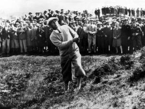 Bobby Jones at the British Amateur Golf Championship at St. Andrews, Scotland, June 1930