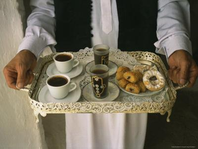 Berber Hospitality in the Form of Tea, Coffee and Cakes on a Tray