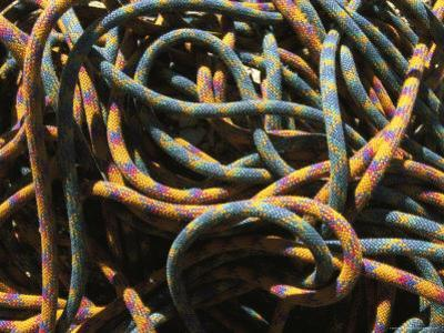 Detail of Colorful Climbing Ropes