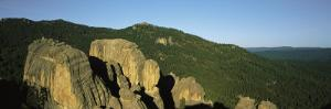 Elevated Panoramic View of Rock Formation in the Black Hills by Bobby Model