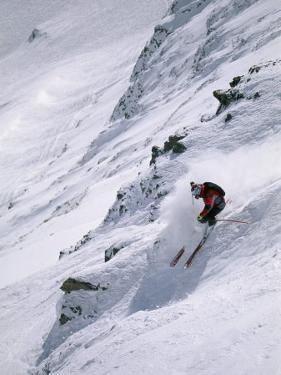 Skiing the Powder at Big Sky Resort by Bobby Model