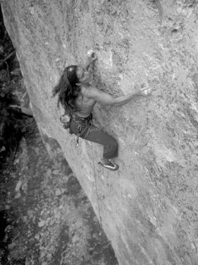 Women Rock Climbing in the Big Horn Mountains of Wyoming by Bobby Model
