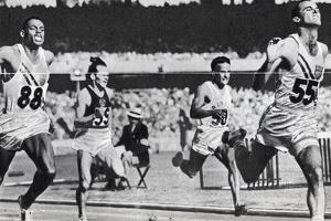 Bobby Morrow Setting a New Olympic Record in the Final of the 200 Metres at 1956 Melbourne Olympics