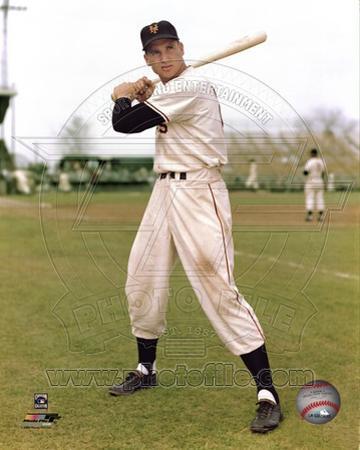 Bobby Thomson - Posed with bat