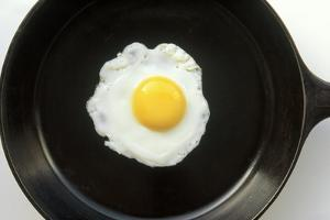 Fried Egg in a Cast Iron Skillet by Boch Photography
