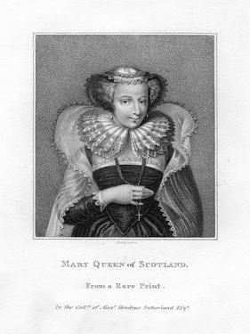 Mary, Queen of Scots, (1542-158) by Bocquet