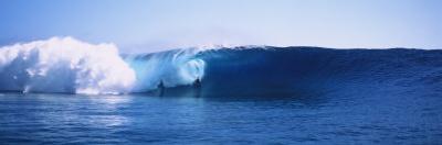 Body Boarder Surfing in the Ocean, Tahiti, French Polynesia
