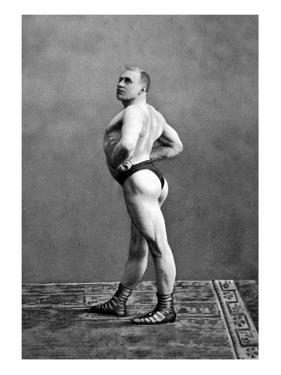 Bodybuilder's Back and Left Profile