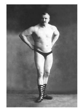 Bodybuilder with Hands on Hips