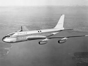 Boeing 707 Plane in Flight