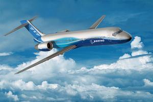 Boeing 717-200 in Flight