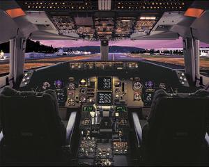 Boeing 757 glass cockpit