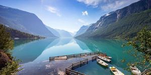 Lovatnet Lake, Norway, Panoramic View by Bogomyako