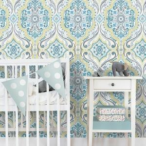 BOHEMIAN DAMASK REMOVABLE WALLPAPER